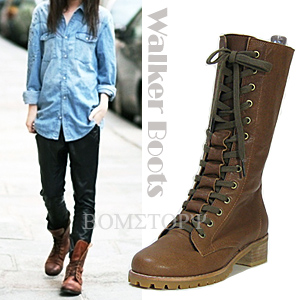 3071 Lace-up walker boots