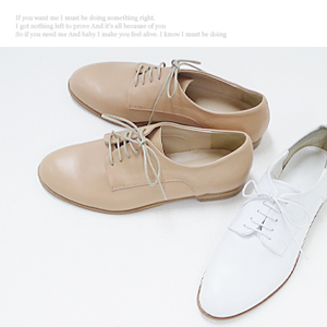 3865 Tomboy style oxford shoes