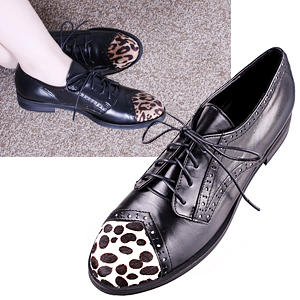 4125 animal point toe oxford shoes