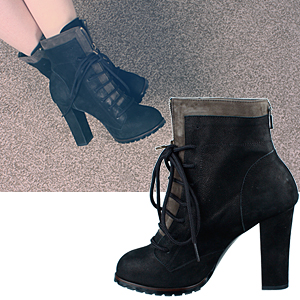 4296 lace-up nubuck ankle boots